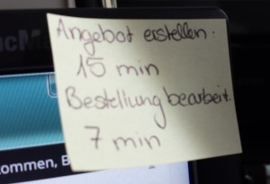 Bearbeitungs-Post-It